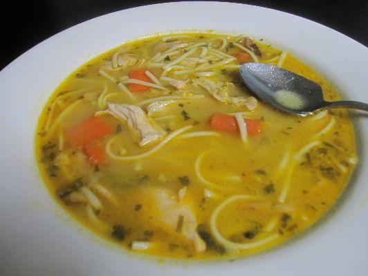 Криной суп с лапшой