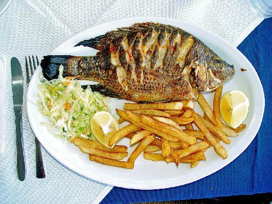 Кошерная рыба с гарниром