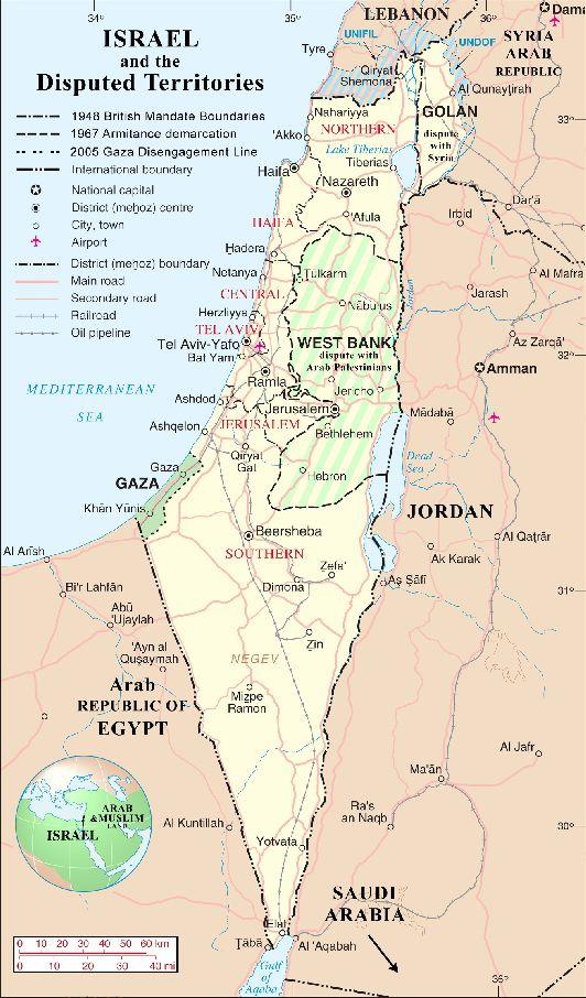 Расположение Эйлата на карте Израиля