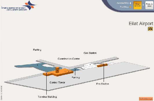 Планировка аэропорта Эйлата