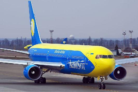 ''Аэросвит'' - украинская авиакомпания, летающая в Тель-Авив из Москвы через Киев