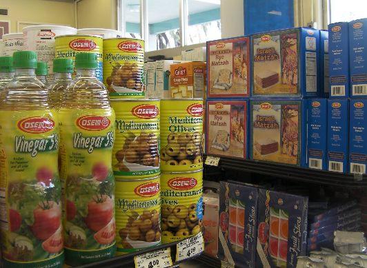 Стоимость продуктов в израильском супермаркете