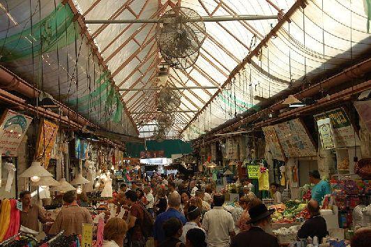 ''Махане Иегуда'' - старейший базар Иерусалима, раскинувшийся между улицами Агрипас и Яффо