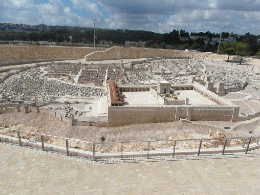 В этом же музее есть макет Израиля в эпоху Второго Храма