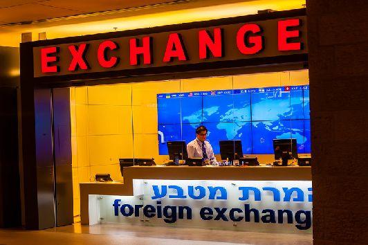 Обменный офис в израильском аэропорту