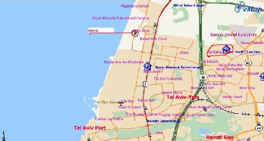 Расположение Тель-Баруха на карте