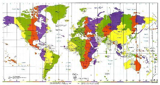 Израиль на карте часовых поясов