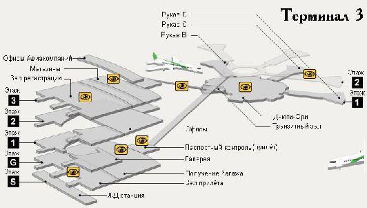 План терминала № 3