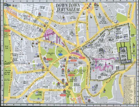 Карта деловой части города