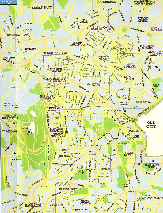 Карта улиц Иерусалима