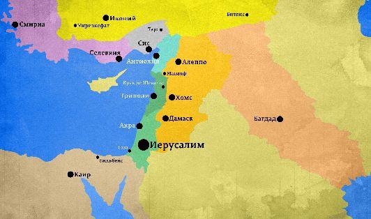 Карта Израиля с отмеченными на ней Иерусалимом и другими городами страны 1