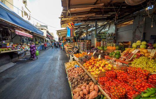 Рынок Кармель один из самых больших рынков Тель-Авива