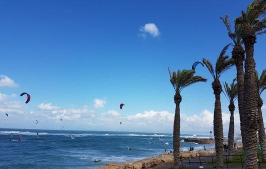 Рядом с пляжем на волнах всегда катаются винд- и кайтсерферы
