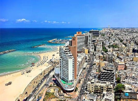 Тель-Авив и Средиземное море