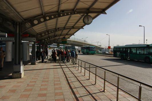 Северный автовокзал в Хайфе - одна из конечных автобусных остановок